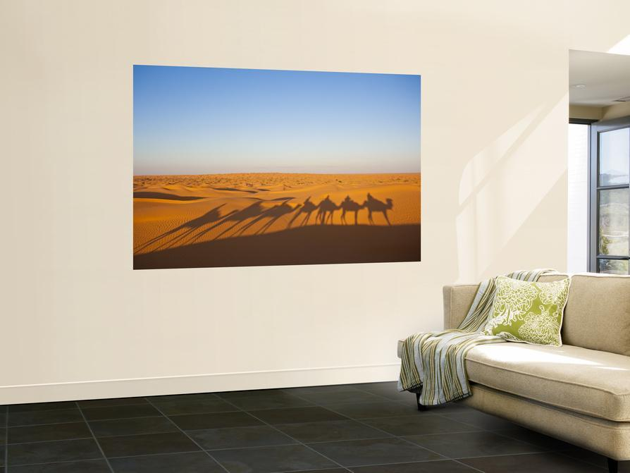 Tunisia, Ksour Area, Ksar Ghilane, Grand Erg Oriental Desert, Camel Caravan