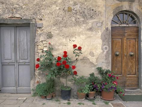 Tuscan Doorway in Castellina in Chianti, Italy Photographic Print