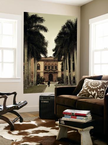 USA, Florida, Sarasota, Ringling Museum, Ca D'Zan, John Ringing Mansion Wall Mural