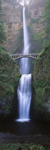 View of Multnomah Falls in Columbia Gorge, Oregon, USA Photographic Print