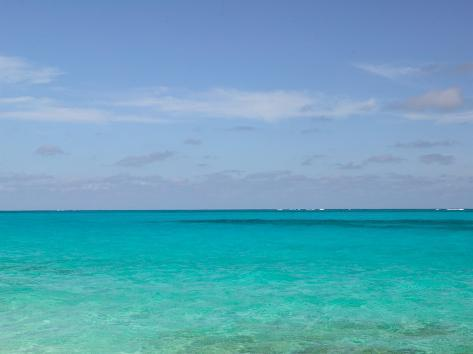 View of the Atlantic Ocean, Loyalist Cays, Abacos, Bahamas Photographic Print