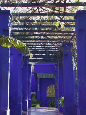 Villa Exterior, Jardin Majorelle and Museum of Islamic Art, Marrakech, Morocco Photographic Print