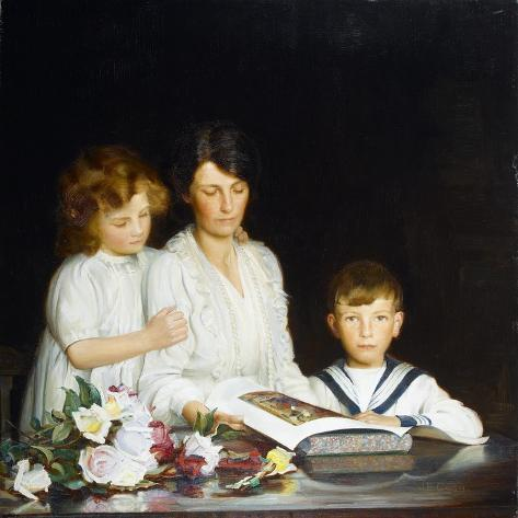A Family Portrait, 1919 Giclee Print