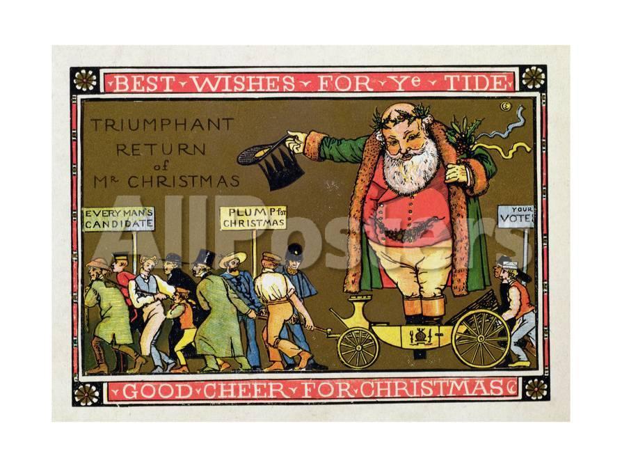 Christmas Card Giclee Print Walter Crane Allposters Com