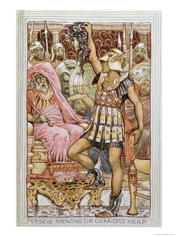 Perseus Showing the Gorgon's Head, 'The Greek Mythological Legend', Published in London, 1910 Impressão giclée