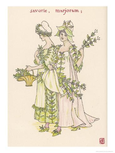 With Satureja Savory and Marjoram Personified Giclee Print