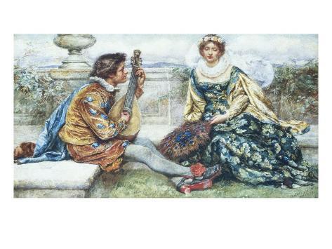 If Music Be the Food of Love Lámina giclée