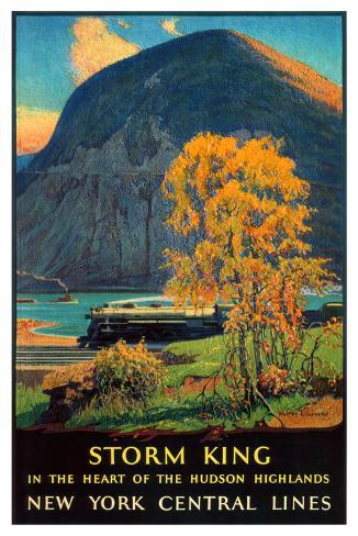 Storm King, New York Central Lines Giclee Print