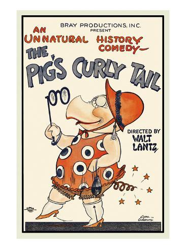 The Pig's Curly Tail Art Print
