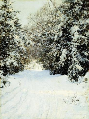 Snow-Laden Trees, 1887 Giclee Print