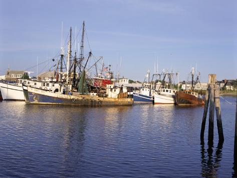 Fishing Boats, Hyannis Port, Cape Cod, Massachusetts, New England, USA Photographic Print