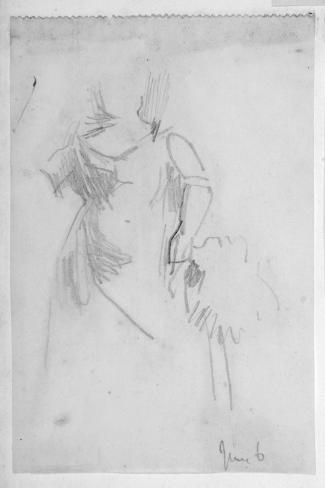 Sketch of a Female Figure, 1888 Stampa giclée