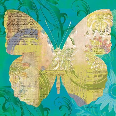 Blue Pop Butterfly Art Print