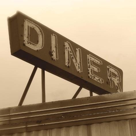 Diner Sign Art Print