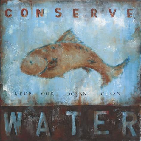 Conserve Water Art Print