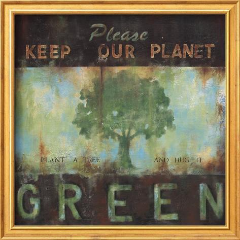 Green Planet Framed Art Print