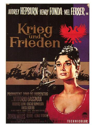 War and Peace, German Movie Poster, 1956 Art Print