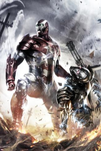War Machine No.10 Cover: Iron Patriot and War Machine Poster