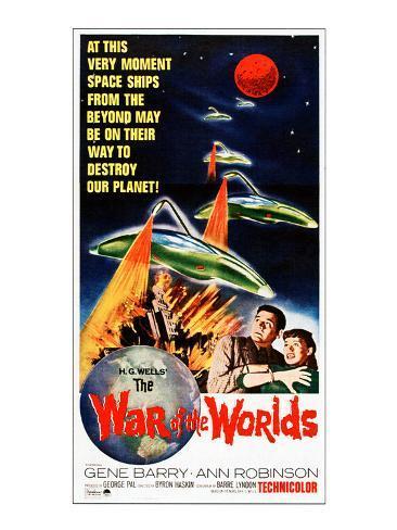 War of the Worlds, Bottom From Left: Gene Barry, Ann Robinson, 1953 Photo