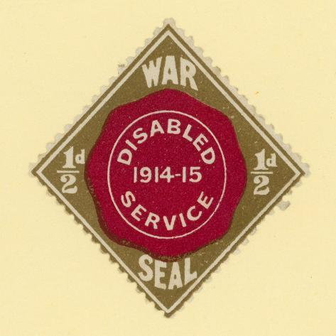 War Seal - Disabled Service 1914-1915 Stampa giclée