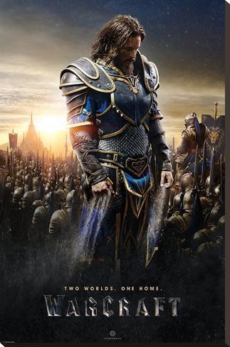 Warcraft- Lothar Stretched Canvas Print