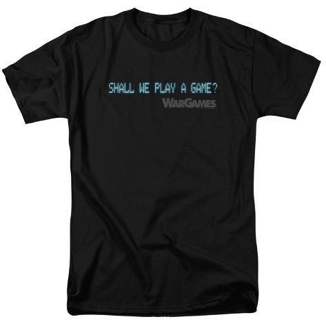 Wargames- Shall We Play A Game Logo T-Shirt