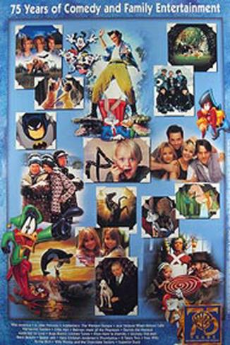 Warner Bros 75Th Anniversary Original Poster