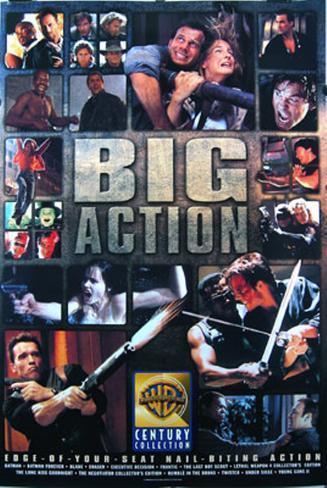 Warner Brothers Big Action オリジナルポスター