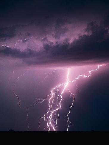 Lightning Bolts Photographic Print By Warren Faidley At