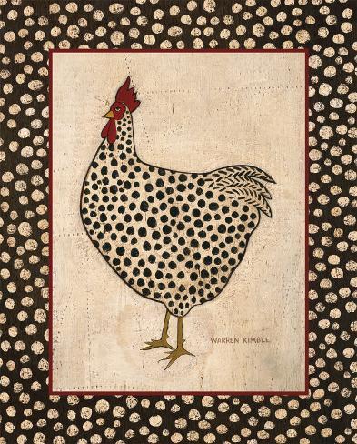 Spotted Chicken Art Print