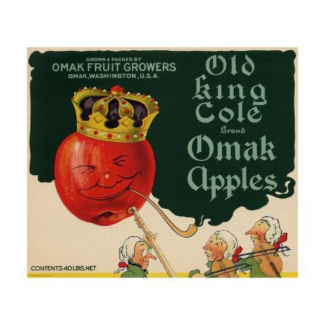 Warshaw Collection of Business Americana Food; Fruit Crate Labels, Omak Fruit Growers Taidevedos