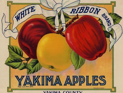 Warshaw Collection of Business Americana Food; Fruit Crate Labels, Yakima Horticultural Union Taidevedos