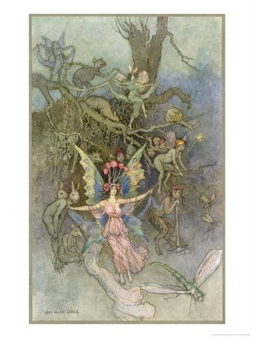 Fairies and Other Creatures Giclee Print
