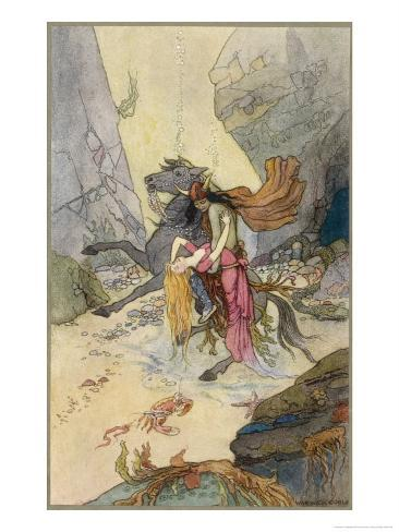 Knight and Maiden at the Bottom of the Sea Giclee Print