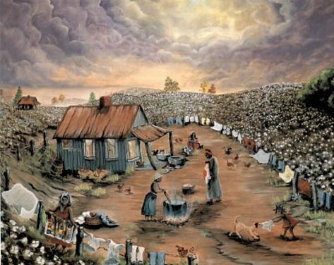 Wash Day Art Print POSTER black slaves slavery wrong Mini Poster