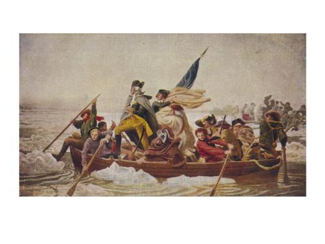 Washington at Delaware Lámina giclée