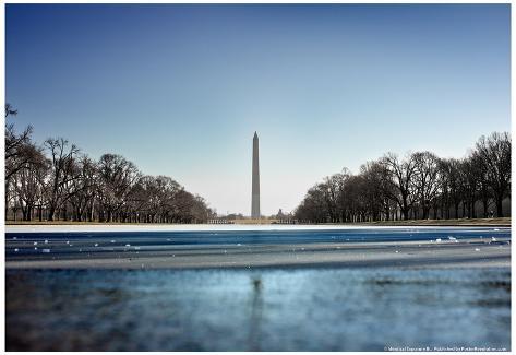 Washington monument reflecting pool washington dc poster for Pool design washington dc