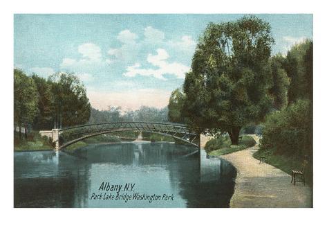 Washington Park, Albany, New York Art Print