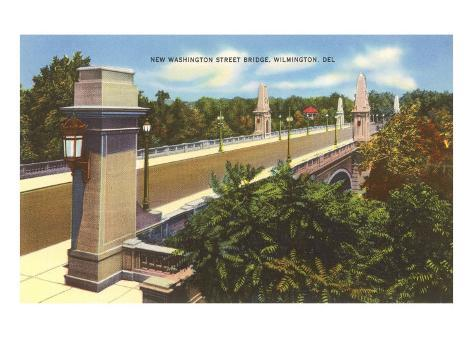Washington Street Bridge, Wilmington, Delaware Art Print