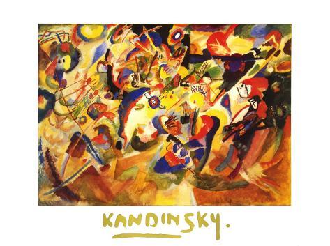 Amarillo, rojo, azul, c.1925 Lámina