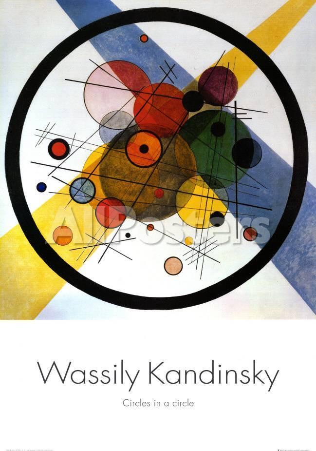 Círculos dentro de un círculo Póster por Wassily Kandinsky en ...