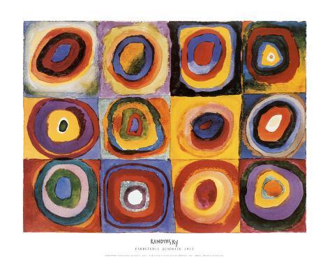 Estudo de cores, quadrado Impressão artística
