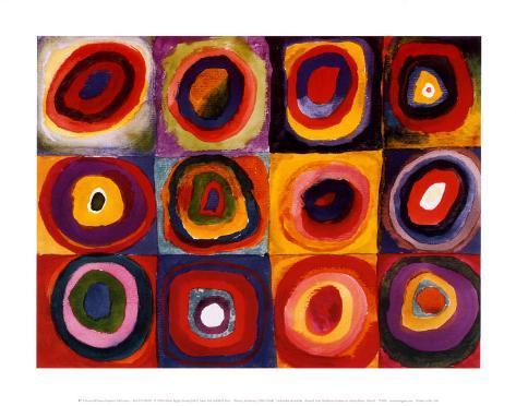 Kvadratisk färgstudie, ca 1913|Farbstudie Quadrate, ca1913 Konstprint