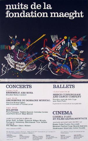 Nuits de la Fondation 1966 Art Print