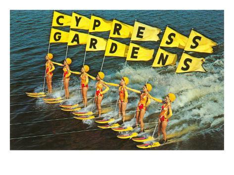 Water skiers cypress gardens florida posters at for Cypress gardens mural