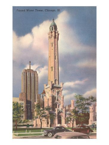 Water Tower, Chicago, Illinois Art Print