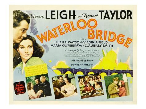 Waterloo Bridge, Robert Taylor, Vivien Leigh, 1940 Fotografía