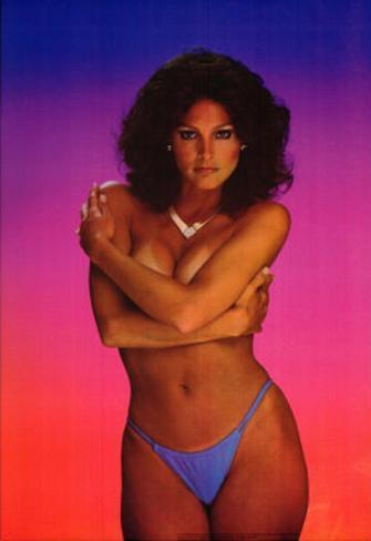 Waterproof 80s Topless Brunette Pin-Up, Deborah Zullo Poster