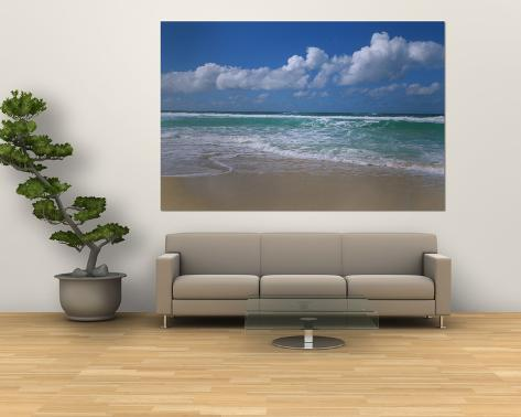 Waves Crashing on the Beach, Sunset Beach, Oahu, Hawaii, USA Giant Art Print