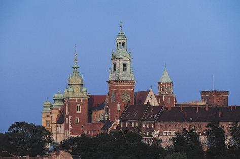 Wawel Royal Castle and Royal Archcathedral Basilica of Saints Stanislaus and Wenceslaus on Wawel Hi Photographic Print